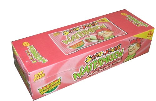 Sour Jacks Watermelon Soft and Chewy Sour Candies 0 8 Ounce Bags Pack of 24