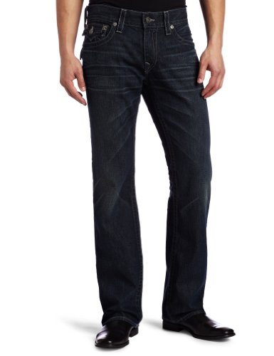 True Religion Men's Ricky Straight Jean, Blue, 32