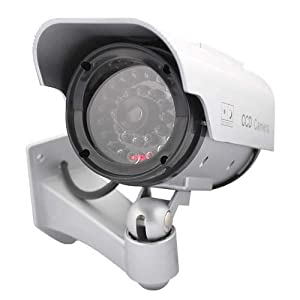 GTMax Fake Dummy Security Outdoor Camera Solar operated - Silver