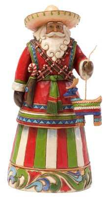 Enesco Jim Shore Heartwood Creek Mexican Santa Figurine, 7-1/4-Inch front-1004618