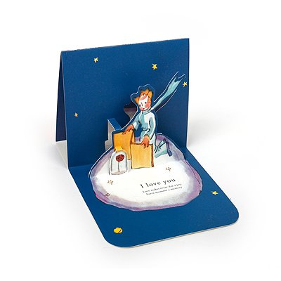 LE PETIT PRINCE LOVE POP-UP CARD - Rose