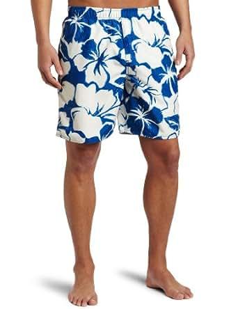 Quiksilver Waterman Men's Bombora Volley Floral Print Trunk, Blue, Small