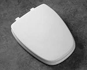Bemis 1240200303 Eljer Emblem Plastic Round Toilet Seat, Dusty Rose