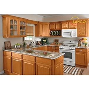 Amazon.com - 10x10 Randolph Oak Kitchen - Wall Mounted Cabinets