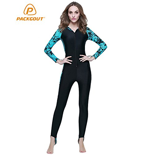 PACKGOUT  1 WOMENS WETSUIT Lightweight Full Body Dive Skin Hooded Diving  Suit 337e8be75