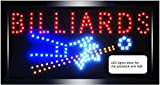 """Crystal Art """"Sign Of The Times"""" Billiards LED Lighted Sign, 10"""" x 19"""""""