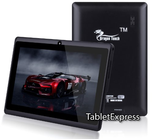 "Dragon Touch® 7"" Black Google Android 4.0 Allwinner A13 Multimedia Tablet MID PC, 4GB, Google Play Pre-Installed, USB-OTG, Supports Skype Video Chat Calling, Netflix Movies and Flash Player, MID744B-A13 [by TabletExpress]"