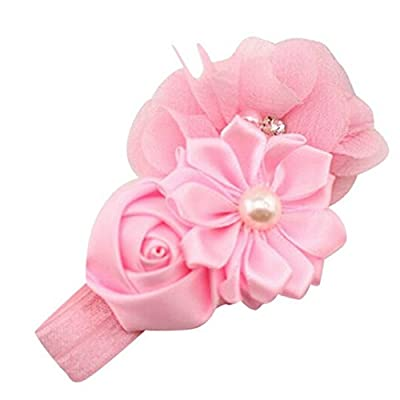 Bigban Fashion Baby Girl Flower Pearl Flower Hair Band Headband Hairband Hair Accessories