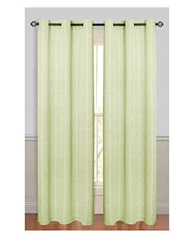 Cay Trading Set of 2 Dainty Home 2-Piece Textured Window Panels, Sage