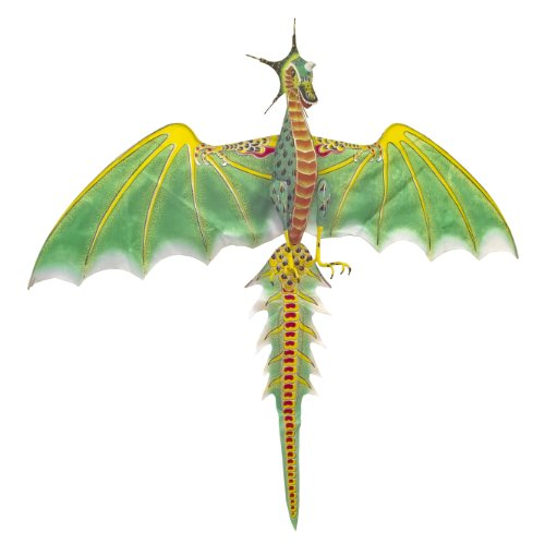 Medium Green Dragon Kite - Chinese Hand-Crafted Silk Kites