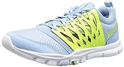 Reebok Womens Yourflex Trainette 5L Wow Training Shoe Denim Glow/Solar Yellow/White 7 B(M) US