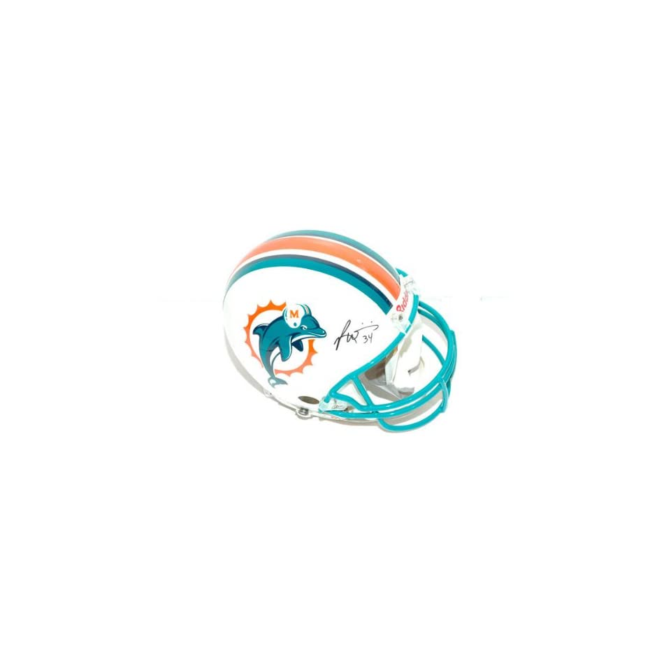 Ricky Williams Autographed Pro Line Helmet  Details Miami Dolphins, Authentic Riddell Helmet