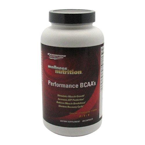CHAMPION NUTRITION WELLNESS BCAA'S 200 Capsules