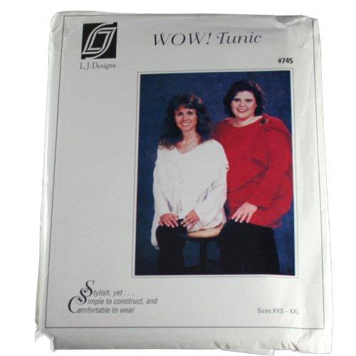 L.J. Designs 745 Sewing Pattern Misses Wow! Tunic,Size Xxs-Xxl
