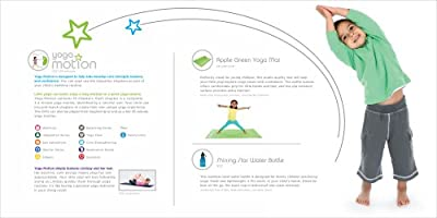 Yoga Motion Bundle - Kids Yoga DVD, Eco-friendly Yoga Mat, & Water Bottle