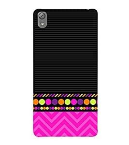 Colorful Zig Zag Design 3D Hard Polycarbonate Designer Back Case Cover for Sony Xperia E5 : Sony Xperia E5 Dual