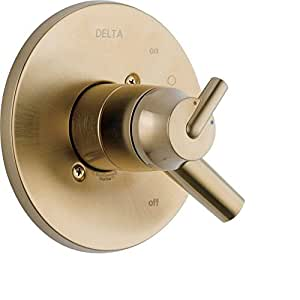 Delta Trinsic Two Handle Champagne Bronze Shower Faucet Control With Valve D088v