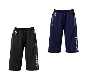 Uhlsport Fussball Training 3/4 Trainingshose Long Shorts Schwarz Dunkelblau, Grösse:XXS;Farben:Schwarz
