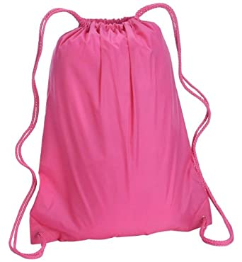 Liberty Bags Large Drawstring Cinch Pack (OS / HOT PINK)