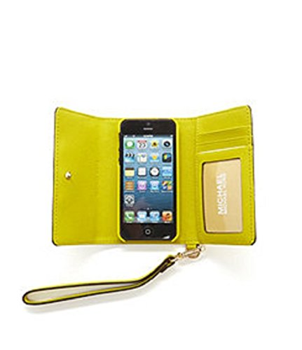Michael Kors Women's Saffiano Leather Phone Wristlet Case For IPhone 5