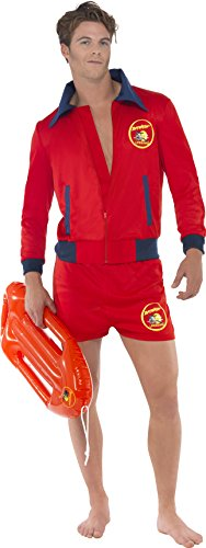 Smiffy's Men's Baywatch Hasselhoff Lifeguard Costume. The ladies will be throwing themselves into the water, waiting for you to rescue them when you dress-up as the hoff!