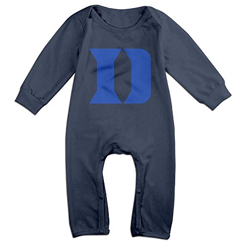 JJVAT Duke University D Logo Long Sleeve Outfits For 6-24 Months Toddler Size 12 Months Navy (Peppa Pig Play D compare prices)