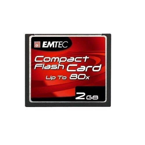 Carte mémoire Compact Flash de 2 Go.