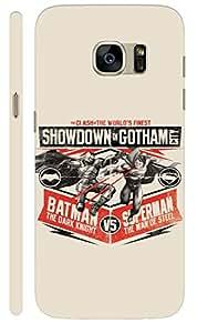 Aatank Premium Printed Mobile Case Back Cover for Samsung Galaxy S7 Batman vs superman