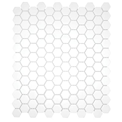 White 12X12 Hexagon Mosaic- 11pcs/carton (11 sq ft)