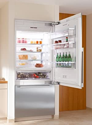 Miele 30  Fully-Integrated Stainless Steel Bottom Freezer Refrigerator