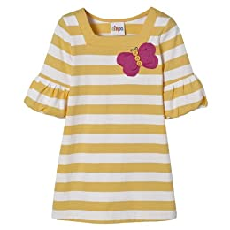 Product Image Infant Girls' Short-sleeve Bubble Sleeve Dress - Banana