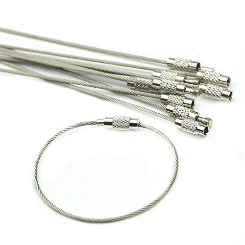 heroneo-10pcs-alambre-de-acero-inoxidable-llavero-cable-para-senderismo