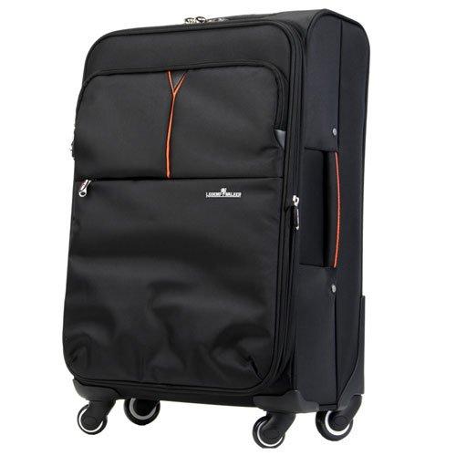 キャリーケース キャリーバッグ キャリーケース 4輪 TSAロック 拡張機能付 大型ソフトキャリー 軽量 高品質 61L ブラック