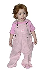 Lakin McKey 223 Infant\'s Premium Washed Bib Overall Pink Stripe 18 Months