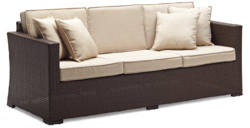 Good clairemont patio furniture Strathwood Griffen All Weather Wicker Seater Sofa Dark Brown