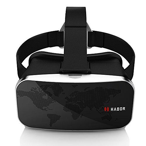 Habor 3D VRゴーグル VRヘッドセット バーチャルリアリティ体験 ブルー膜コーティング 4.0 ~6.0インチのiPhone/Androidスマホに対応 (改良版)