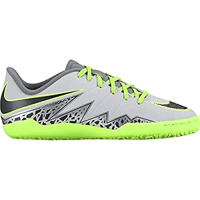 Nike Junior Hypervenom Phelon II Indoor Soccer Shoe (Pure Platinum/Black/Ghost Green)