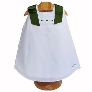 Weisses Baby Taufkleid, 0-6M, grünen Schleifen und ...