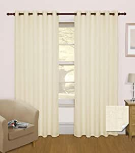 Homescapes - Coppia di tende oscuranti termiche ad asole, isolamento acustico livello 3, effetto ...