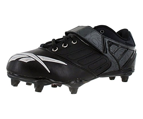 Reebok Bulldodge Low Sd2 Lc Mens Football Shoes Black/Silver/Red Size 12
