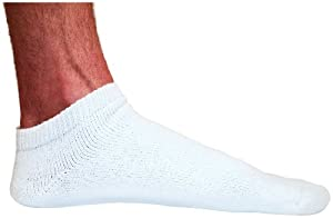 Mens No Show Socks 6 Pair Cotton Athletic Low Cut Golf Latex Free by Best Socks USA