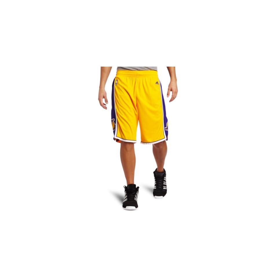 Los Angeles Lakers White Adidas Swingman Revolution 30 Shorts on ... 87587f671