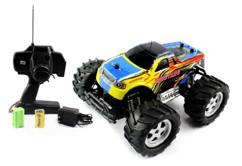41SzGZS1QML Cheap Buy  Mustang Rumbler 1:16 Off Road Electric RTR RC Monster Truck Remote Control Quality Trucks