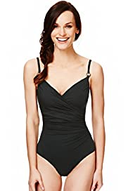 Crossover Front Ruched Swimsuit