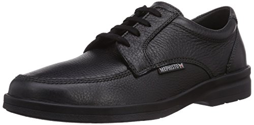 Mephisto - JANEIRO NATURAL 7200 BLACK, Derby da uomo, nero (black), 43