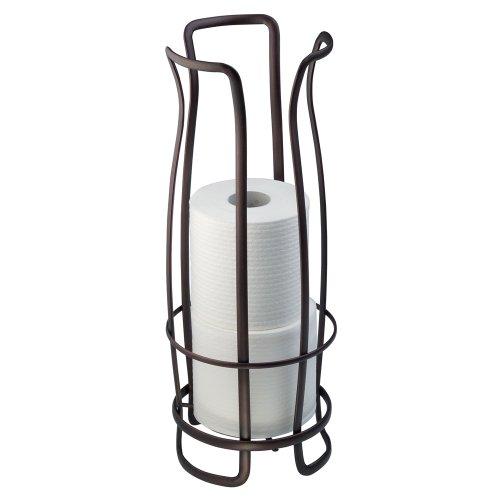 InterDesign Axis Free Standing Toilet Paper Roll Holder for Bathroom Storage - Bronze (Bronze Bathroom Storage compare prices)