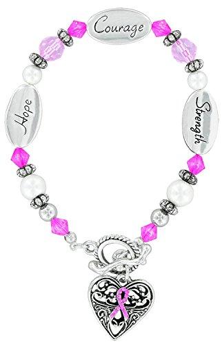 Pink Ribbon Gift Box, Verse & BC Bracelet