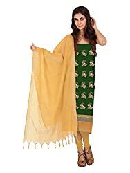Green Zari Work Jacquard Unstitched Fancy Unstitched Dress Material