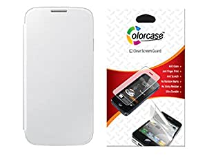 Colorcase Flip Cover Case for Samsung Galaxy Alpha G850 with Screenguard Combo Set