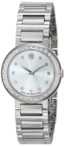 Movado Women's 0606793 Concerto Stainless Steel Watch with Stainless Steel Link Bracelet
